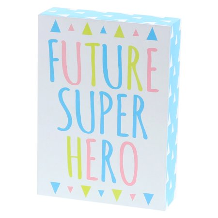 "Superhero Sayings (Barnyard Designs Future Super Hero Box Wall Art Sign Primitive Country Home and Nursery Decor Sign With Sayings 7"" x)"