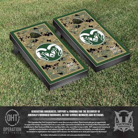 Operation Hat Trick Colorado State Rams Cornhole Game Set Border Version