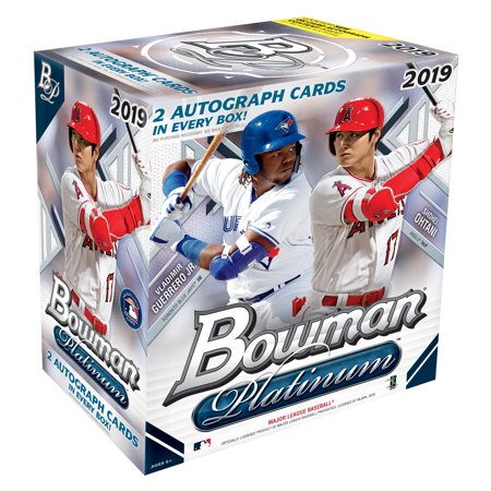 2019 Topps Bowman Platinum Baseball Monster Box- 2 Autographs per Box | 100 Topps Bowman Baseball Trading Cards | Feat. Vladimir Guerrero Jr. & Shohei Ohtani 1990 Score Autographed Hockey Card