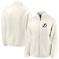 Tampa Bay Lightning Fanatics Branded Women's Sherpa Full-Zip Jacket - Cream