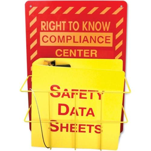 Impact Products Right To Know Center Safety Rack - Red, Yellow - 1Each