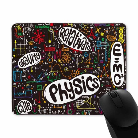 POP Physical Formulas and Phenomenon Science Board with Math Physics Education at School Printed Mousepad Non Slip Rubber Gaming Mouse Pad 9x10 inch - image 1 of 2