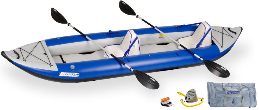 Click here to buy Sea Eagle 420X 14ft Inflatable Kayak Incl Seats Paddles and Pump by Sea Eagle.