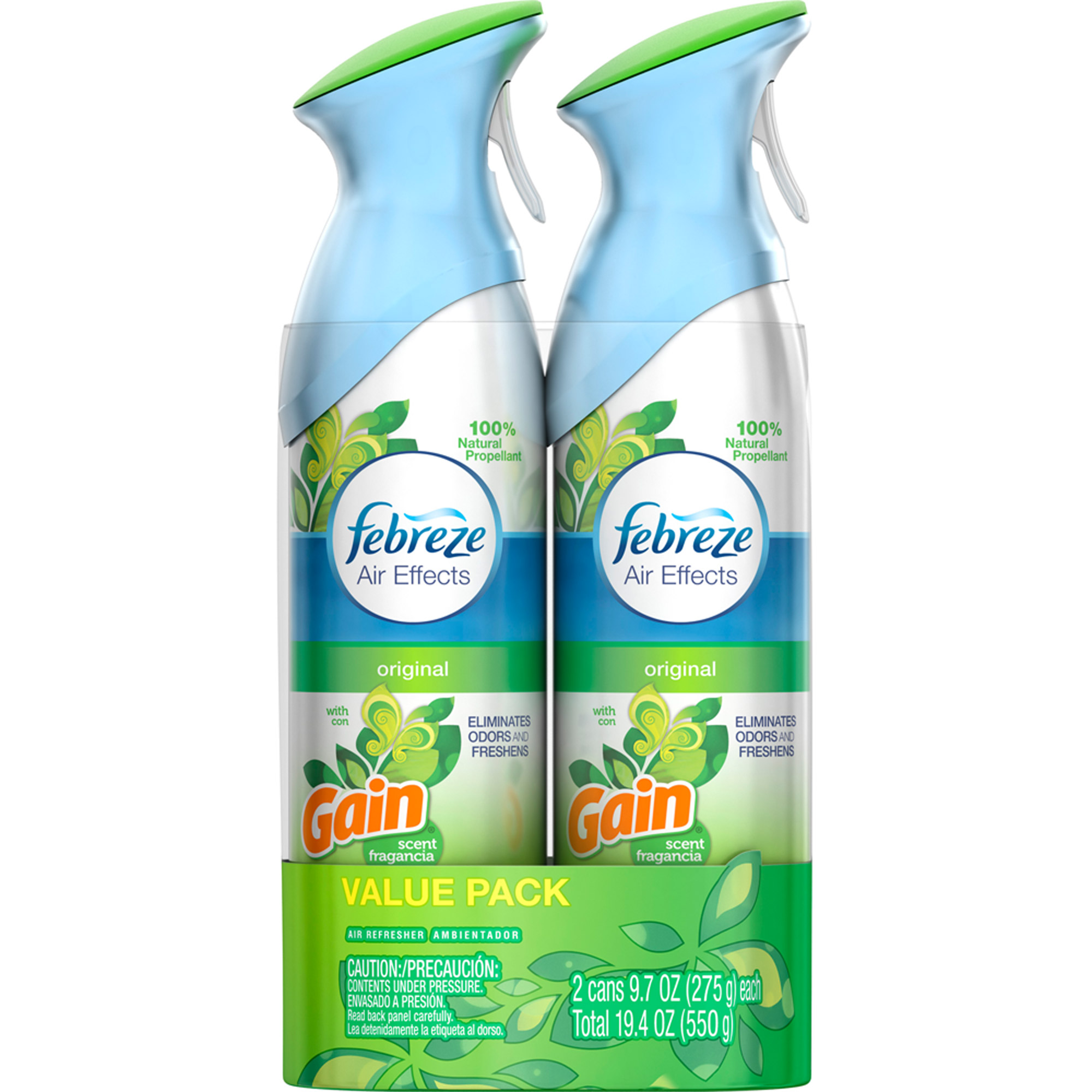 Febreze Air Effects Gain Original Air Freshener, 9.7 oz, 2 count