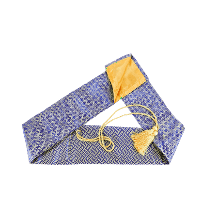 MAKOTO Synthetic Silk Handmade Sword Bag Pattern on Blue Style 203