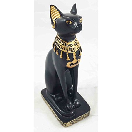 Egyptian Collector Well Detailed Small Bastet Figurine Ubasti Bast Cat Sculpture (Small Figurines)