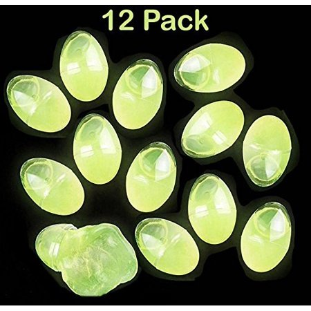 Easter Glow in the Dark Putty Eggs - 12 Pack Green, Great Toy For Any Child Favor, Gift, Birthday, - By Katzco