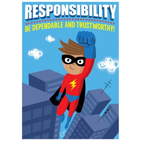 RESPONSIBILITY SUPERHERO POSTER INSPIRE U - Vintage Superhero Posters