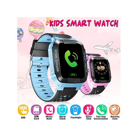 Kids Smart Watches with SOS Call SMS Flash Night Light Christmas Gift Pedometer Voice Message Anti-lost Alarm Smart Watch Bracelet for Children Girls Boys(2G/GSM/GPRS)