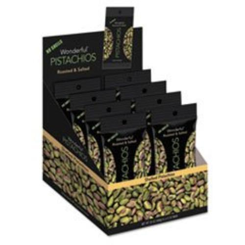 Nuts 070146A25M Wonderful Pistachios, Dry Roasted & Salted, 2.5 Oz, 8 box by Everybodys Nuts
