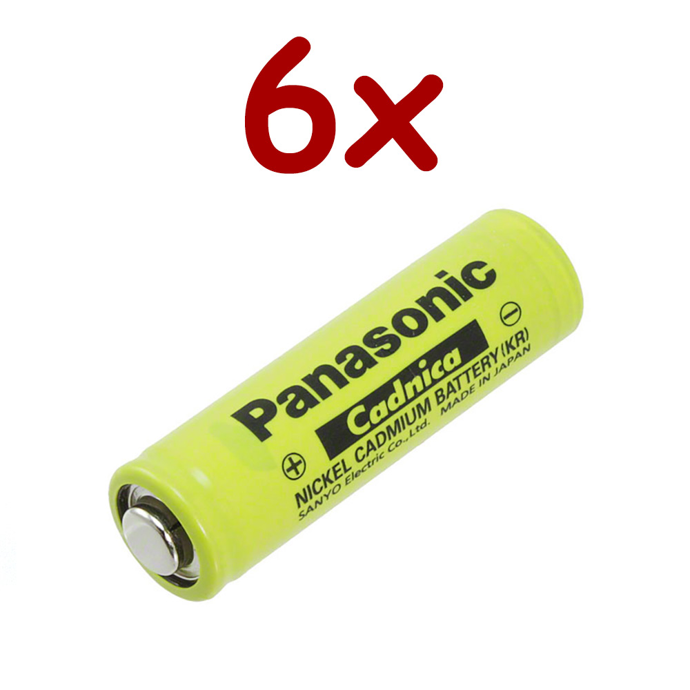 Sanyo / Pansonic Nickel Cadmium Battery 1.2v 700mah | N-700AAC (Rechargeable) (Qty of 6)