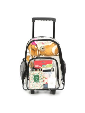 Product Image Rolling Clear Backpack Heavy Duty See Through Daypack School  Bookbag with Wheels b33a2101e4eab