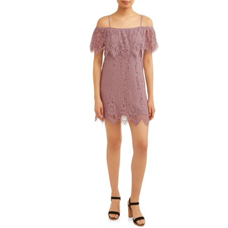 No Boundaries Juniors' Lace Marilyn Dress