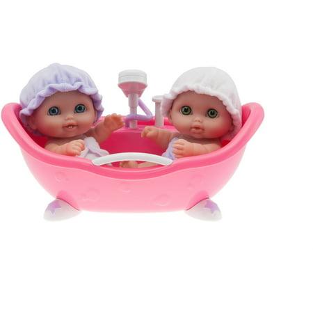 Lil\' Cutesies Twins with Bathtub - Walmart.com