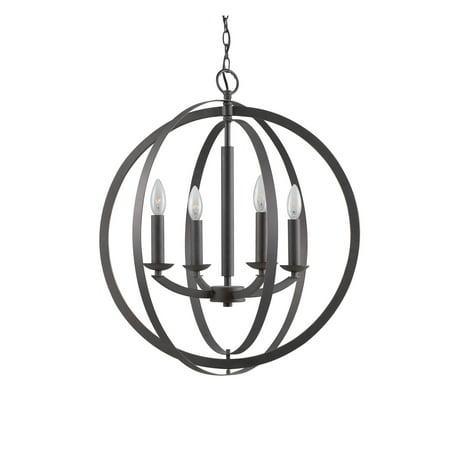 Woodbridge Lighting  14420 Lola Steel 4-light Sphere Pendant Chandelier ()
