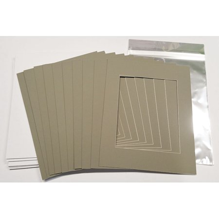 13x19 White Picture Mats with White Core for 11x14 Pictures - Fits ...
