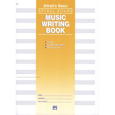 - 10 Stave Music Writing Book (Paperback)