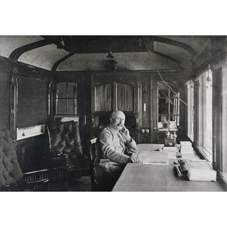 French Military Commander Philippe Petain 1856 To 1951 Sitting In Railway Carriage Office In Autumn 1915 Canvas Art - Ken Welsh Design Pics (34 x 24) Promo Code