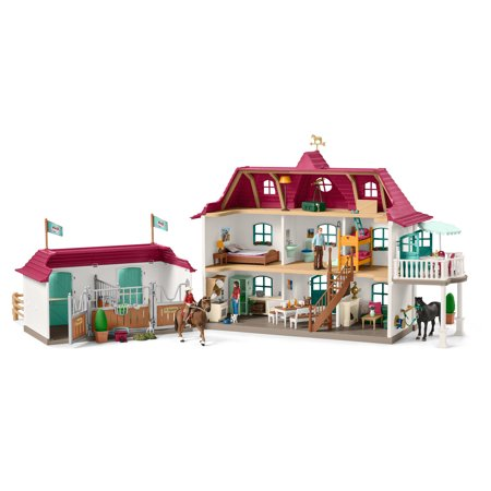 Schleich Horse Club, Large Horse Stable with House & Stable Playset and Toy -
