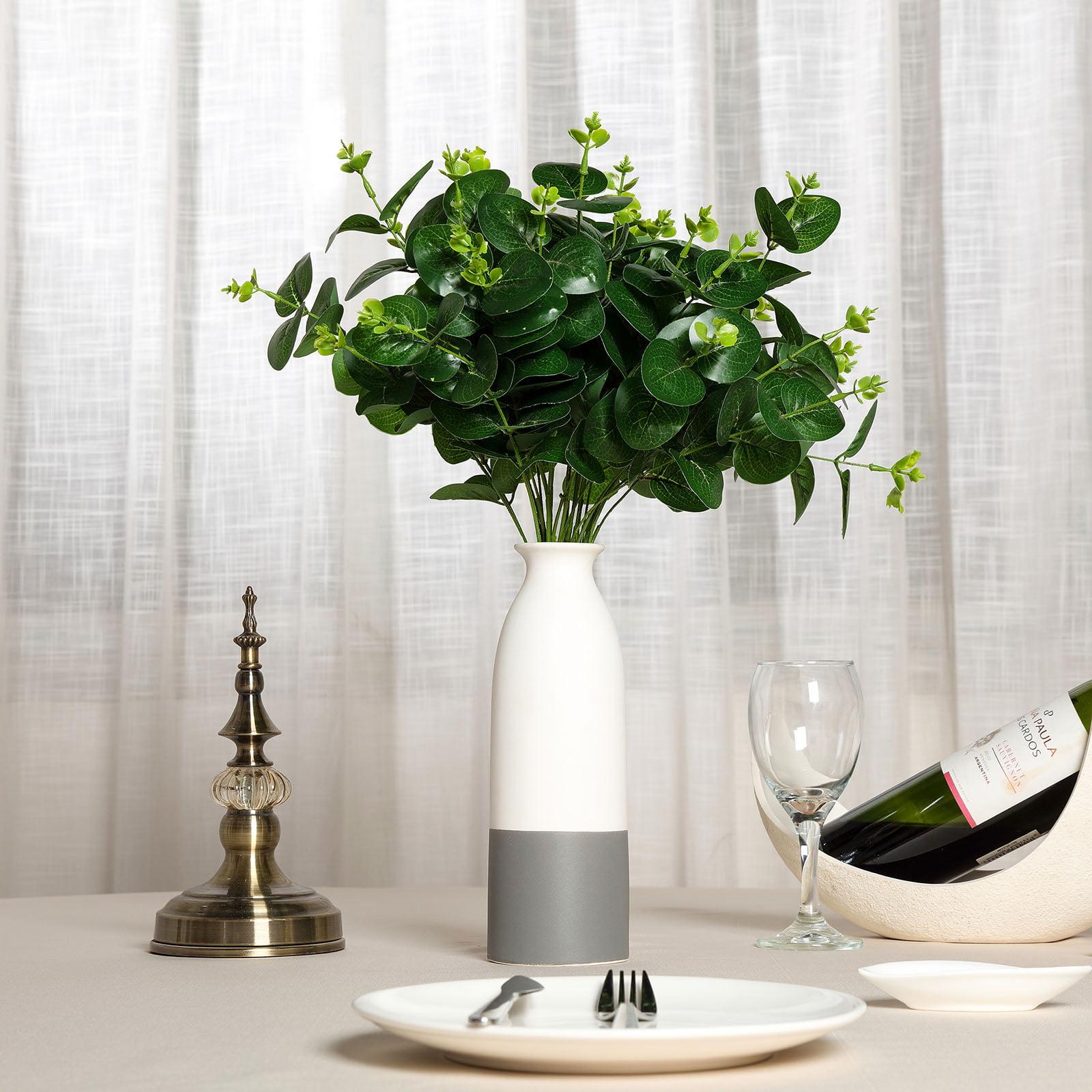 "BalsaCircle 2 pcs 19"" Dark Green Branches Artificial Eucalyptus Greenery - Wedding Arrangements Tabletop Centerpieces Decorations"