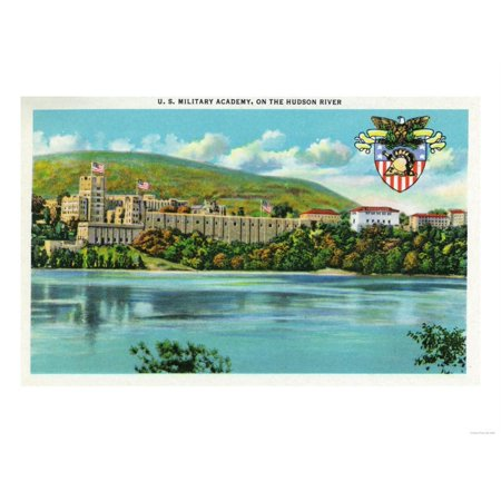 West Point, New York - Hudson River View of US Military Academy Print Wall Art By Lantern Press Hudson River West Point