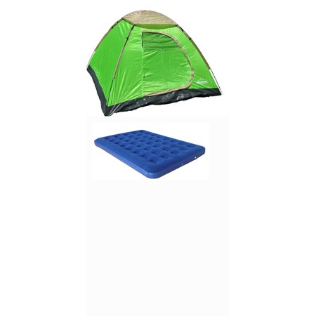 3 Person Dome Tent With Queen Size Air Mattress Combo 3pt