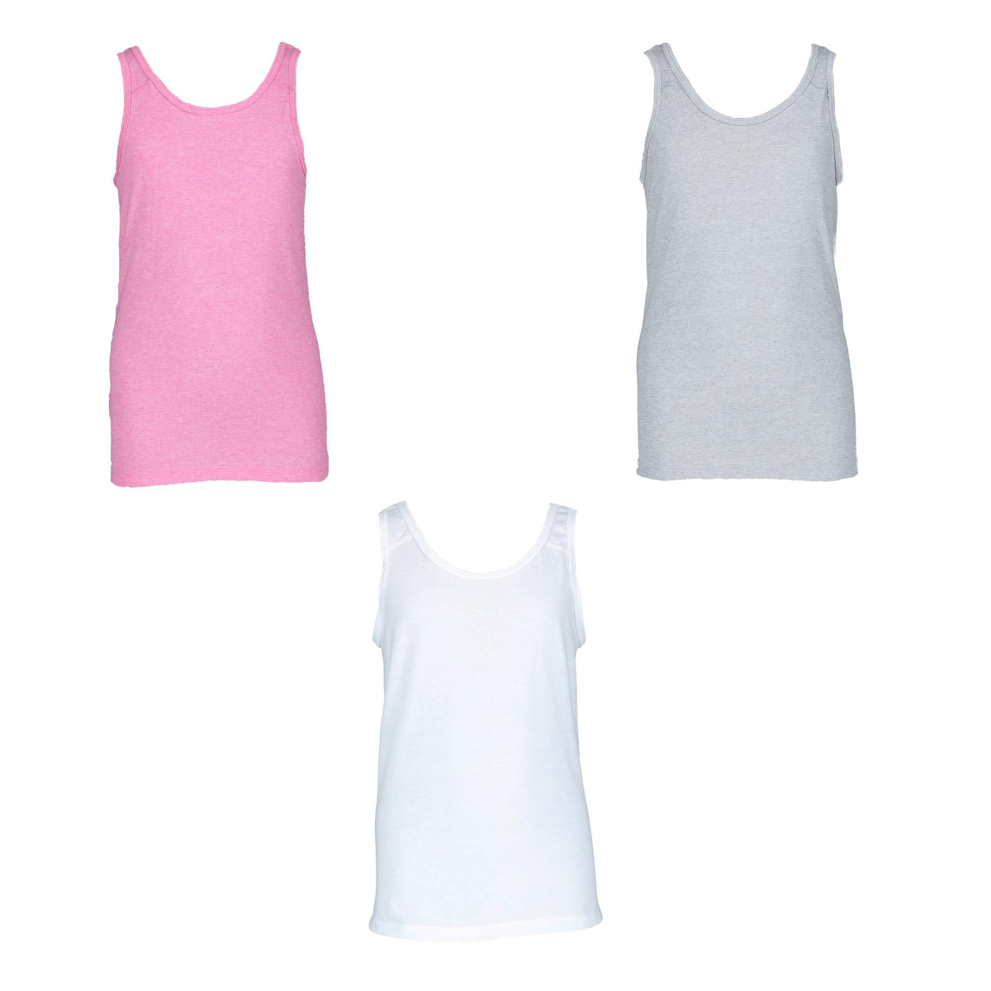 Assorted//Jersey, Fruit of the Loom Big Girls Tank Pack of 5