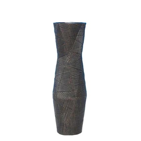 Benzara BM152445 Glamorous Decorative Resin Vase, Brown - image 1 de 1