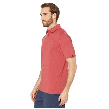 Under Armour Golf New Charged Cotton Scramble Polo Stadium Red/Stadium Red Cotton Herringbone Polo