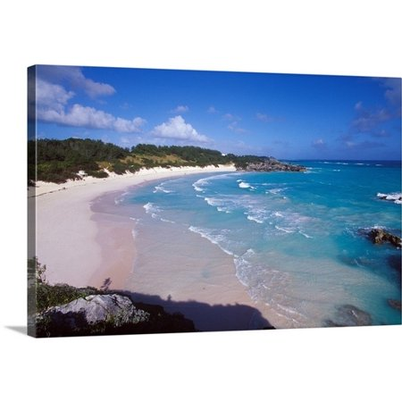 - Great BIG Canvas Greg Johnston Premium Thick-Wrap Canvas entitled Caribbean, Bermuda, Southampton Parish, Horseshoe Bay. Pink sand beach
