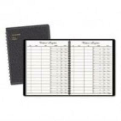 AT-A-GLANCE Recycled Visitor Register Book, Black, 8 1 2 x 11 by
