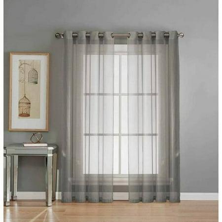 (Diamond Sheer Voile Curtain Panels)