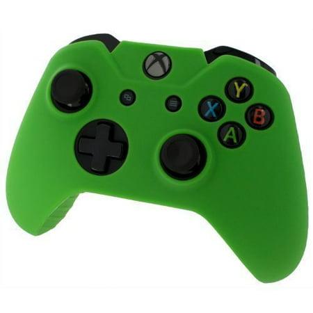 Dark Silicone Protective Skin (Xbox ONE© Controller Skin - GREEN - Case Silicone Cover Gel Rubber)