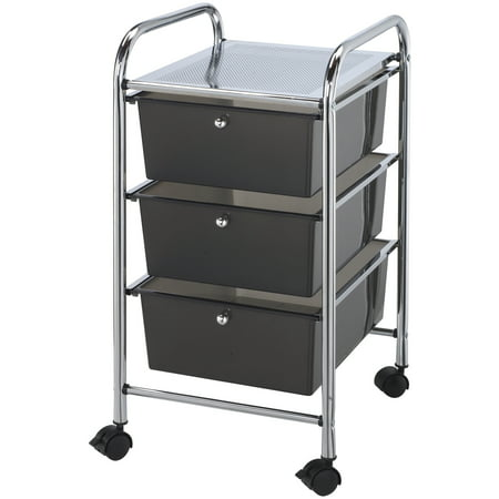 Alvin Storage Cart 3-Drawer (Deep) Smoke