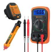 ESYNIC Digital Multimeter Non-Contact Voltage Tester Pen and Socket Tester Electrical Test Kit Multifunctional mini multimeter Tools Tester Splitter
