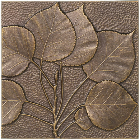 Aspen Leaf Wall Decor, Antique (Antique Copper Outdoor Wall)