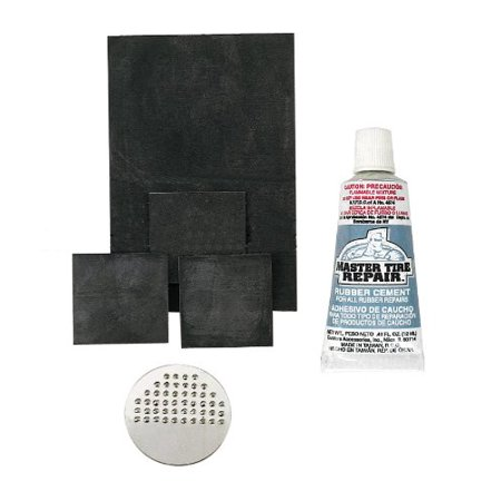 21116 Rubber Patch Kit, (Pack of 4), Includes: (3) 1 inch x 1 inch, (1) 2 inch x 3 inch patches,1 buffer and 1 tube rubber cement By Custom (Best Place To Order Custom Patches)
