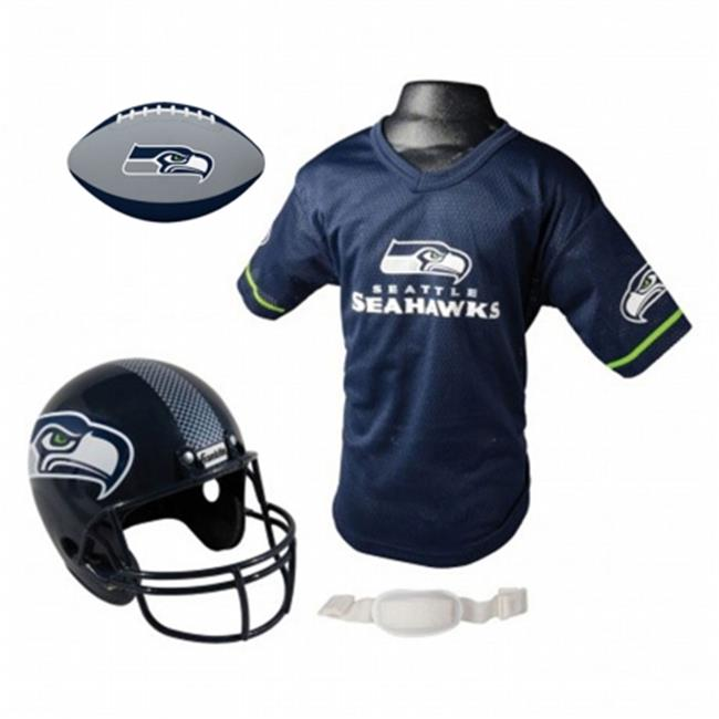 IFS IFS-15720F28-FB Seattle Seahawks NFL Youth Size Helmet & Jersey with Team Color Football