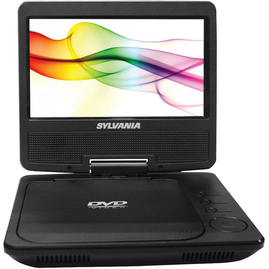 "Sylvania Sdvd7040-black 7"" Swivel Screen Portable Dvd & Media Player"