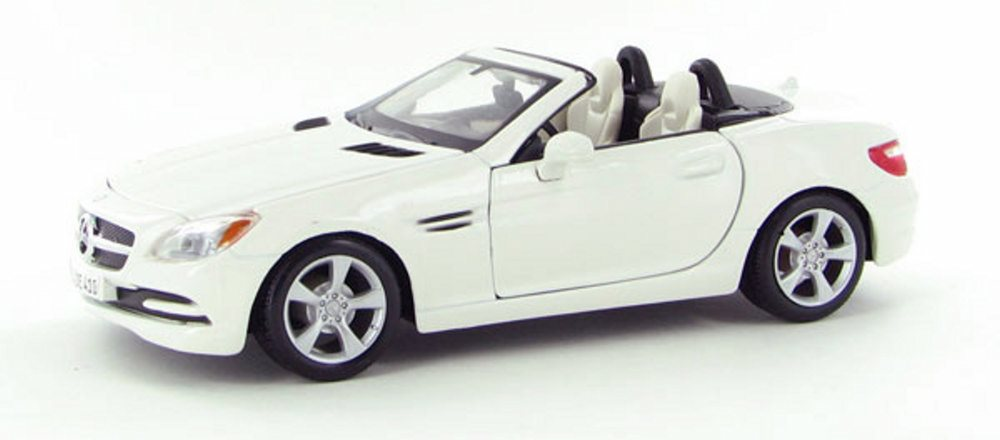 2011 Mercedes-Benz SLK Convertible, Pearl White Maisto 31206W 1 24 Scale Diecast Model Toy... by Maisto