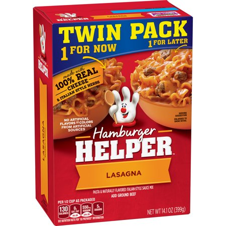 (3 Pack) Hamburger Helper Lasagna  & Italian-Style Sauce Mix Twin Pack 14.1