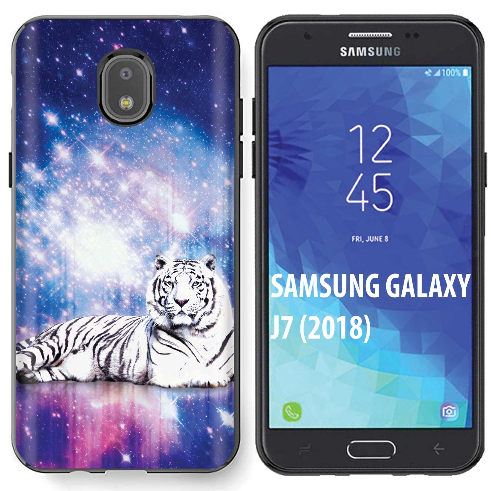 Skinguardz  Samsung Galaxy  J7 2018   J7 Aero  J7 Refine  J7 Star  J737  J7 V 2nd Gen  Black  Slim