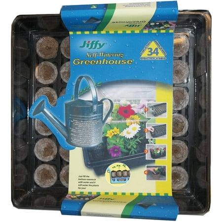 Jiffy 34 Pellet Self Watering Greenhouse