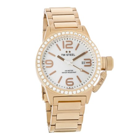 Watch Crystal Box - Canteen Series Ladies Crystal Rose Gold Tone Quartz Watch TW306 (Unworn) No Box or Papers