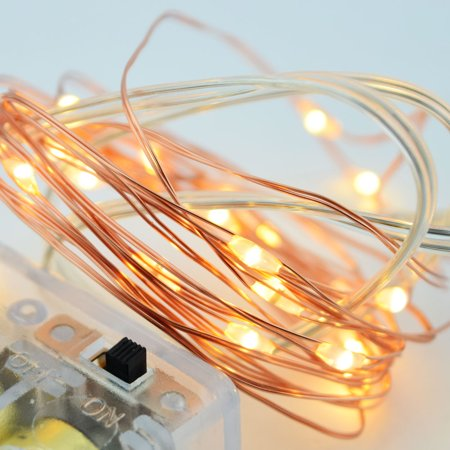 Fantado 20 Warm White LED Copper Wire Micro Strand Fairy String ...