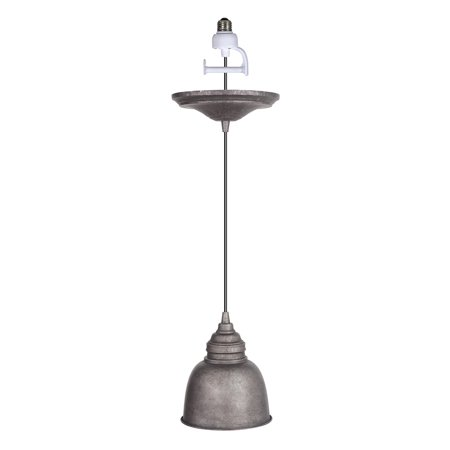 Classic Rust Outdoor Pendant (Instant Pendant Recessed Light Conversion Kit Antique Rust with Metal)