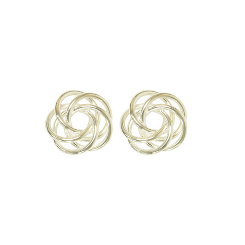 Forever New Silver Tone Love Knot Earrings