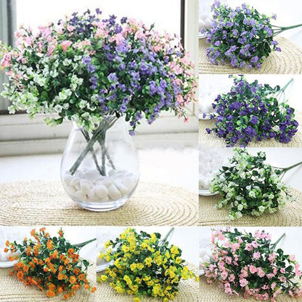 HiCoup Artificial Gypsophila Flower Bloom Plant Home Wedding Party Garden Office Decor