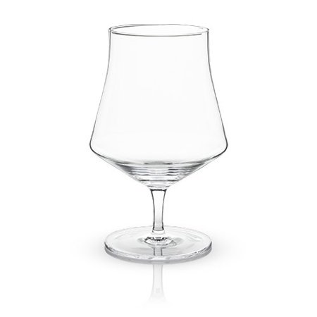 Insulated Wine Glass, Elegant Raye Crystal Beer Goblet Clear Wine Glass, Set Of 2 (Sold by Case, Pack of 4)