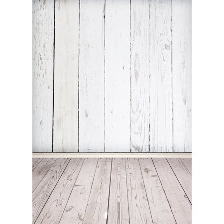 5x7FT Vinyl White Wood Floor Vintage Photography Backdrop Camera & Studio Photo Backgrounds Props - image 2 of 5